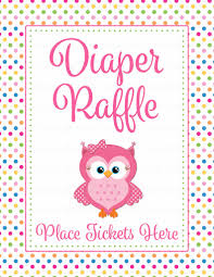 Raffle Tickets For Baby Shower Diaper Raffle Tickets For Baby Shower Owl Baby Shower Theme For