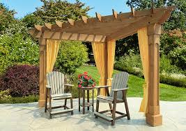 alcove wood pergola amish yard