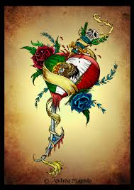 Mexican Flag Eagle Portuguese Mexican Heart Color By Prettygore On Deviantart