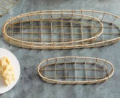 Rattan Baskets by Gio Brass Wire U0026 Rattan Collection By Roost U2013 Burke Decor