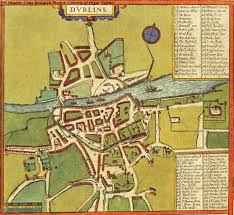Viking Map Map Of Dublin 1617 Braun And Hogenberg