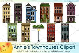 Home Design By Annie Townhouses Clipart Clipground