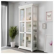 furniture ikea curio cabinet detolf glass door cabinet black