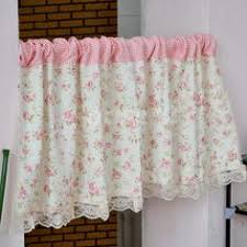Cheap Cafe Curtains French Country Blue Floral Cafe Kitchen Curtain Tier Q Style