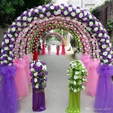 arch decoration 2018 cheap diy wedding decoration props simulation silk flowers
