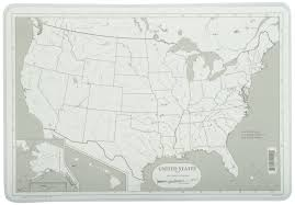 Visited States Map Amazon Com Painless Learning Map Of Usa Placemat Home U0026 Kitchen