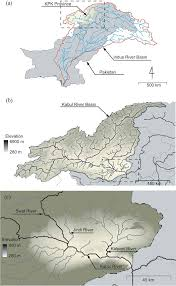 Map Of Rivers Map Of The Kabul River Basin A At The Border Of Pakistan Kpk