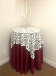 Lace Table Overlays 54 X 54 Inch Ivory Lace Table Overlay Premier Table Linens