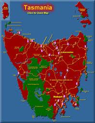 map of tasmania australia tourist maps of tasmania