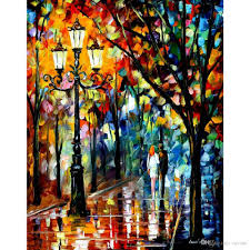 2017 hand painted modern art landscape kaleidoscope of love leonid