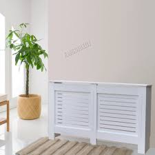 foxhunter white painted radiator cover wall cabinet wood mdf