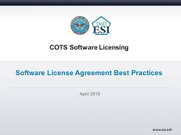 cots software licensing software license agreement best practices