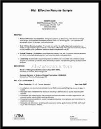 Effective Resumes Examples by Examples Of Effective Resume