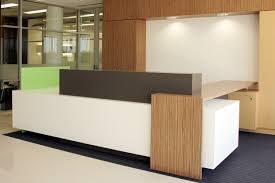 Counter Reception Desk Of But Has Some Elements That Work The Space It Is In