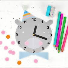 hello wonderful cute free printable clock for kids