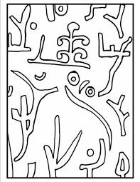 this is a picture of the coloring page for paul klee u0027s park