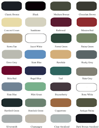 kynar color chart real fitness