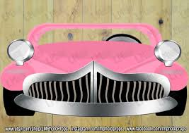 pink grease inspired extra large car photo booth prop grease