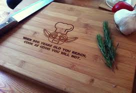 engravable cutting boards chef yoda personalized cutting board chopping block wars