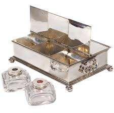 Silver Desk Accessories 37 Best Inkwells Images On Pinterest Contemporary Desk