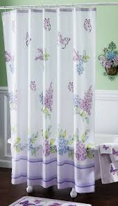 Bath Shower Curtains And Accessories Lilac And Butterflies Bathroom Shower Curtain Curtains From