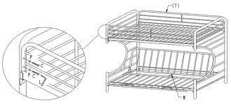 White Metal Futon Bunk Bed Black Metal Futon Bunk Bed Assembly Bm Furnititure