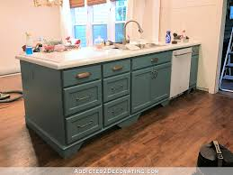 Picture Kitchen Cabinets by My Freshly Painted Teal Kitchen Cabinets