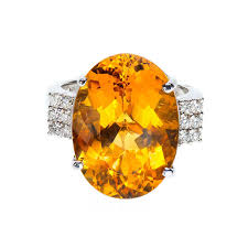 golden gold rings images Golden yellow beryl diamond gold ring for sale at 1stdibs jpeg