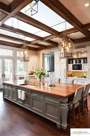 how big is a kitchen island the oversized island with seating skylights and lighting