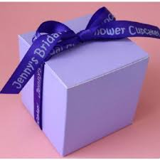 personalized ribbon for wedding favors personalized ribbon cupcake box weddingfavors