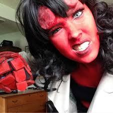 Hellboy Halloween Costume Hellgirl Hellboy Genderbend Cosplay Cosplay Amino