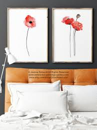 poppy home decor red poppy watercolor wall art print floral wall art home