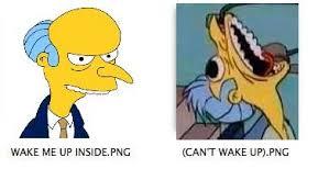 Mr Burns Excellent Meme - wake mr burns up inside wake me up inside can t wake up