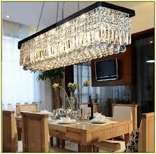 Rectangular Chandelier With Crystals Best Rectangular Crystal Chandelier Dining Room Vallkin Modern