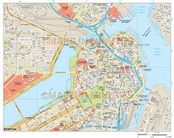 boston city map boston usa city map