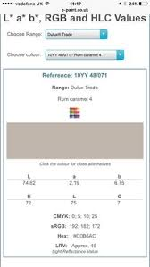 the dulux trade colour palette notation system colour web sites