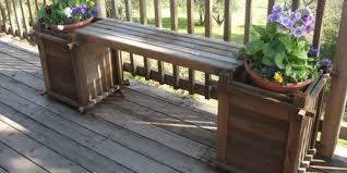 Redwood Planter Boxes by Redwood Planter Box Bench