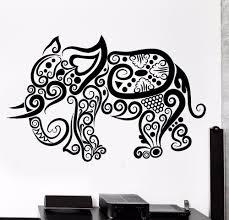 elephant vinyl wall decal elephant africa animal ornament tribal