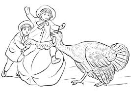 vintage thanksgiving coloring free printable coloring pages