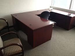 Used U Shaped Desk Wood Veneer U Shaped Office