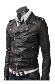 mens leather riding jacket slim fitted leather jacket black rider jacket
