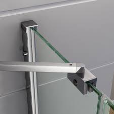 800mm luxury folding bath shower glass screen pivot door panel
