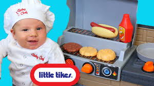 baby cooking grill little tikes cook u0027n play outdoor bbq pretend