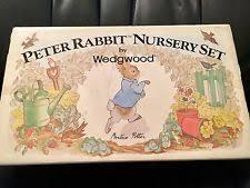 rabbit nursery set by wedgwood wedgwood rabbit classic nursery set 3pce ebay