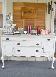 shabby chic buffet table white distressed buffet themed furniture makeover my creative days
