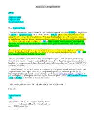Example Letter Of Resignation Resignation Letter Format Example Highlighted Confirm Information