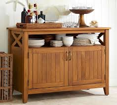 hampstead teak buffet honey pottery barn