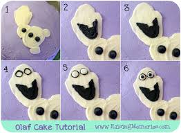 how to make a cake step by step how to make an olaf cake for a frozen birthday party