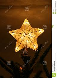 star christmas tree topper royalty free stock photography image