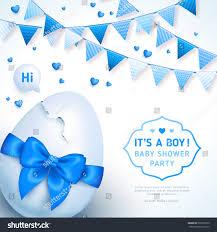 baby ribbon boy baby shower concept blue ribbon stock vector 533305312